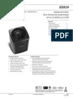 Spec Sheet GSX14