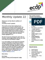 ecdp Monthly Update 22
