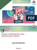 Aula - Leis de Newton I - Unidade  IX