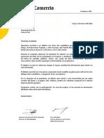 Carta de invitación a Hernando de Soto