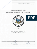Philly Fighting COVID report by Philadelphia Inspector General's Office