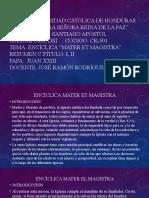 ENCÍCLICA MATER ET MAGISTRA II PRC 2021