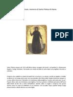 Santa Filotea Di Atene Ricorretto