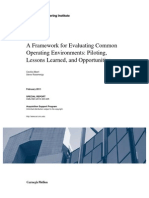 A Framework for Evaluating Common Operating Environments