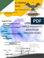 Conceptos y procedimientos Basicos en la Arquitectura