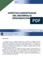 Aspectos conceptuales del desarrollo organizacional