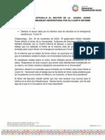 30-11-2020 FELICITA HÉCTOR ASTUDILLO AL RECTOR DE LA  UAGRO, JAVIER SALDAÑA Y A LA COMUNIDAD UNIVERSITARIA POR SU CUARTO INFORME DE ACTIVIDADES