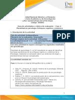 Guía de actividades y rúbrica de evaluación – Fase 4- Pluralidad en psicología Enfoques cognitivo y sistémico