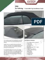 Top Installation Tips - 1996-2006 Chrysler Sebring