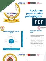 Acciones Para El Año 2021 UGEL Azángaro