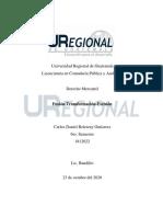 FUSION TRANSFORMACION Y ESCISION DE SOCIEDADES MERCANTILES DANIEL