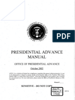 Presidential Advance Manual - Bush '02