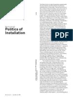Politics of Installation by Boris Groys