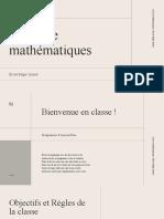 Crème et Vert Géométrique Mathématiques Cours Enseignement Diaporama