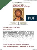 Cassiano-orazione e la preghiera continua