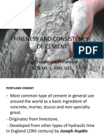 Fineness and Consistency of Cement