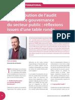 La contribution de l'audit à la bonne gouvernance du secteur public