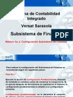 Configuración Subsistema de Finanzas