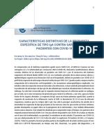 Características distintivas de la respuesta específica a IgA  de SARS (1)