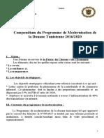 compondium programme de modernisation de la douane sept 2015