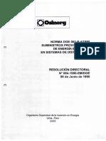 Osenergmin - Norma Dge 001-P-4-1990 - Suministros Provisionales