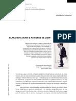 Clara dos Anjos e as Cores de LIma