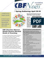 March 2011 KBF Newsletter