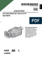 JVC GZ HD7 Bedienungsanleitung Deutsch +
