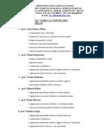Aria Curriculara - Sarcini-componenta