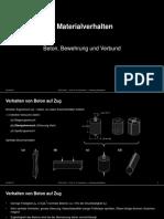 Stahlbeton I 2 Materialverhalten HS2018