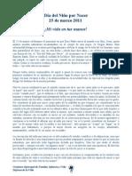 Mensaje 2011 - Comisión de Familia, Infancia y Vida