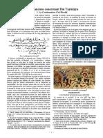 Écrits anciens concernant Ibn Taymiyya. I. La «Continuation» d'al-Birzālī