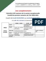 Liste Complémentaire Des Examens Covid19