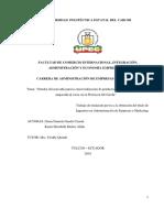 359 Estudio de Mercado Para La Comercializacion de Productos Pre-cocidos de Trucha Empacado Al Vacio en La Provincia Del Carchi
