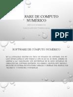 SOFTWARE DE COMPUTO MÉTODOS NUMÉRICOS