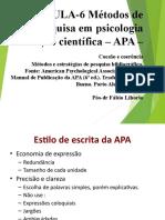 Métodos de pesquisa em psicologia. Redação científica