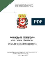 MANUAL DE NORMAS E PROCEDIMENTOS AVALICAO DE DESEMPENHO