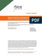 Saúde mental dos profissionais de saúde no Brasil no contexto da pandemia por Covid-19