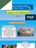 Apologetica de la Iglesia II- Ciclo-2021