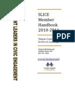 SLICE Member Handbook (2010-2011)