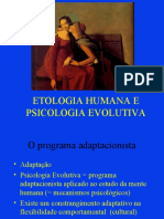 12 - Etologia Humana e Psicologia evolutiva
