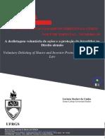 Cunha - A deslistagem voluntária de ações e a proteção do investidor no Direito alemão