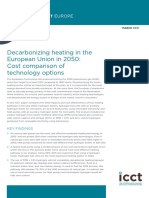Decarbonizing heating in the European Union in 2050