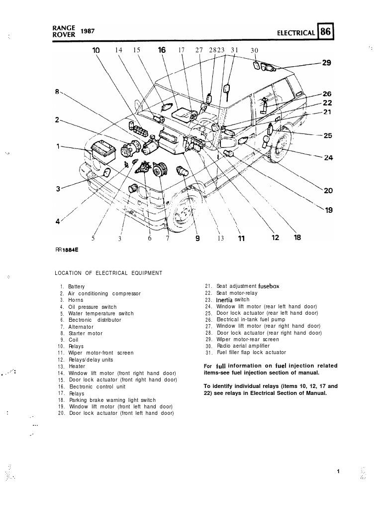 range rover maunual electrics distributor ignition system rh scribd com