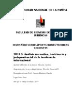 6 Análisis normativo, doctrinario y jurisprudencial de la insolvencia internacional
