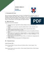 Hebreo Biblico, Plan de Estudios SBTS Nuevo