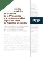 Revisión histórica del contexto político en los inicios de la TV analógica y la contemporaneidad digital Los casos de Argentina y Colombia