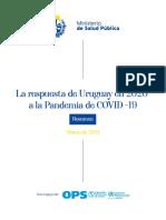 MSP relata la estrategia de respuesta ante la pandemia, a casi 1 año de los primeros casos