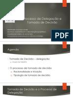 Processo de Delegação e Tomada de Decisão