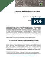 CONCRETO TRANSLÚCIDO NA ARQUITETURA CARCERÁRIA